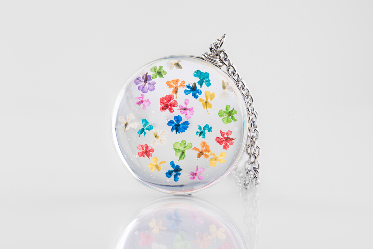 Pandantiv multicolor Halloo flower (inox) poza 2021