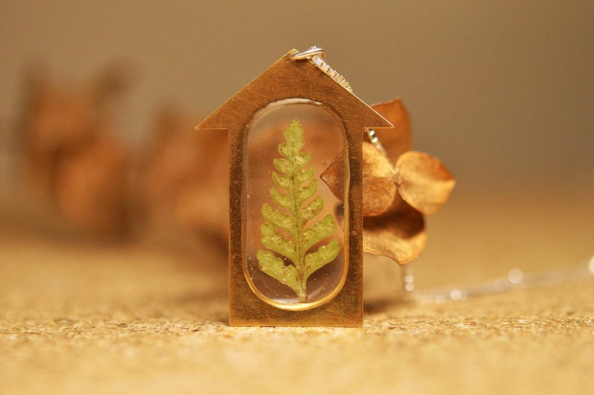 Pandantiv Treehouse (argint 925 placat cu aur) poza 2021